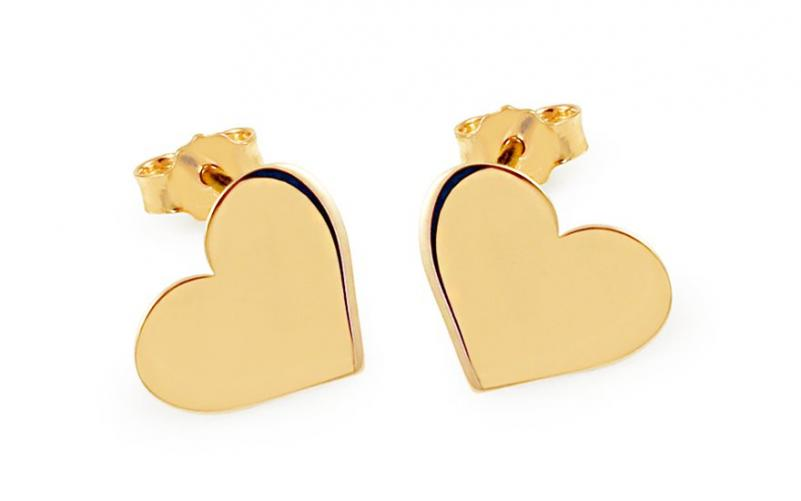 Zlaté náušnice Celebrity Hearts 3 IZ8154
