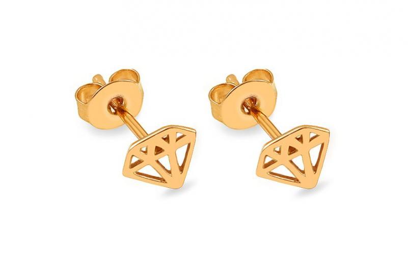 Zlaté náušnice pecky diamanty IZ13925