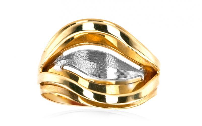 Zlatý dámský prsten gravírovaný IZ5079