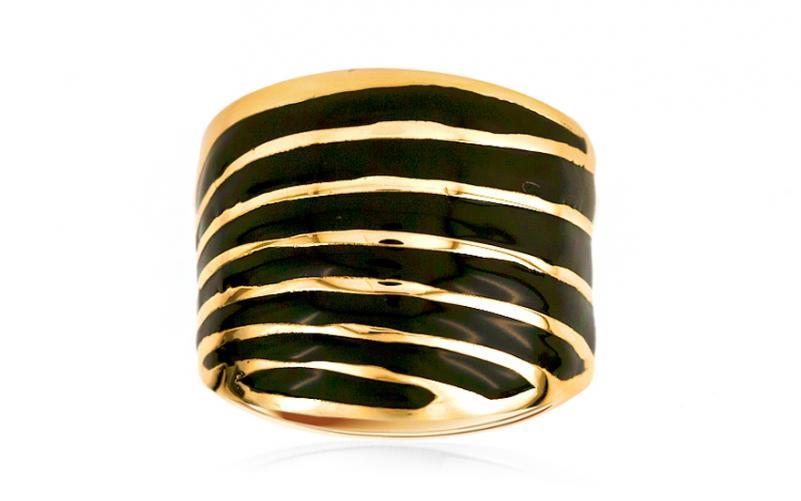 Zlatý dámský prsten s liniemi IZ7706