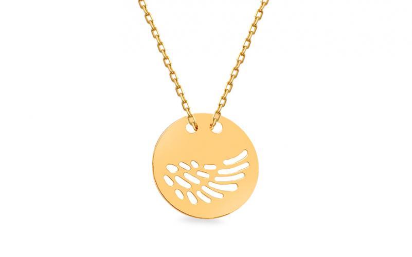 80322a19f Zlatý náhrdelník Celebrity Andělské křídlo IZ13379