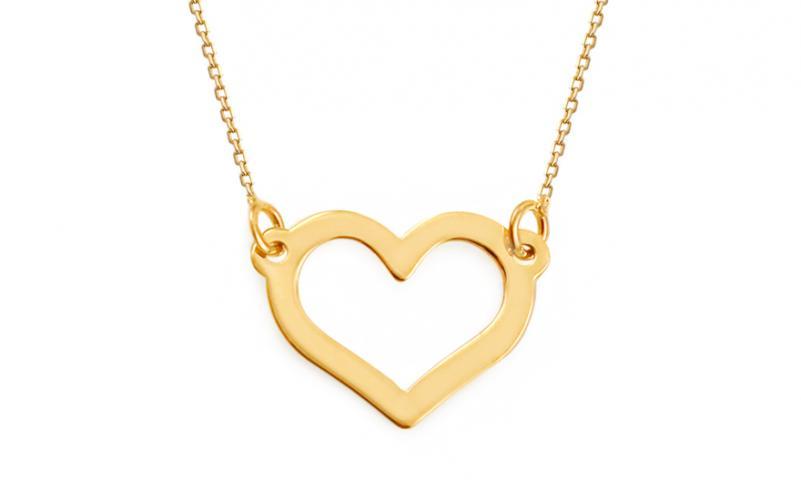 e4939b92b Zlatý náhrdelník Celebrity Heart IZ9239