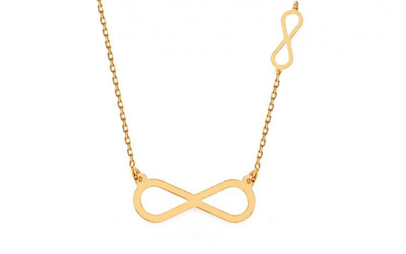 681d02f15 Zlatý náhrdelník Celebrity nekonečno IZ12110