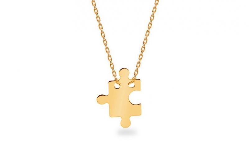 9cdde7514 Zlatý náhrdelník Celebrity puzzle IZ7078M