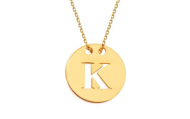 caeb7197b Zlatý náhrdelník Celebrity s písmenem K IZ11520