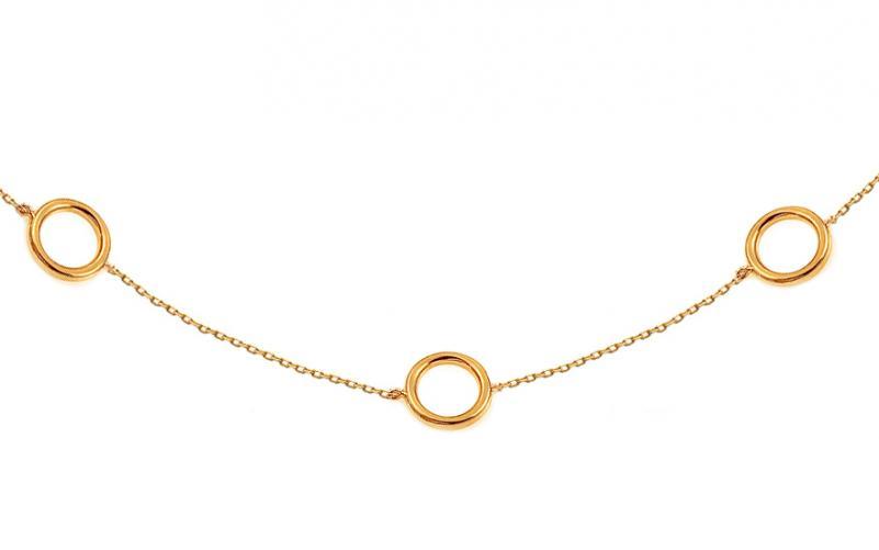 8b60b95d9 Zlatý náhrdelník Choker s kroužky IZ14347
