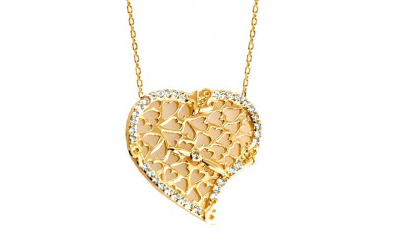 Zlatý náhrdelník Time for Love IZ6471