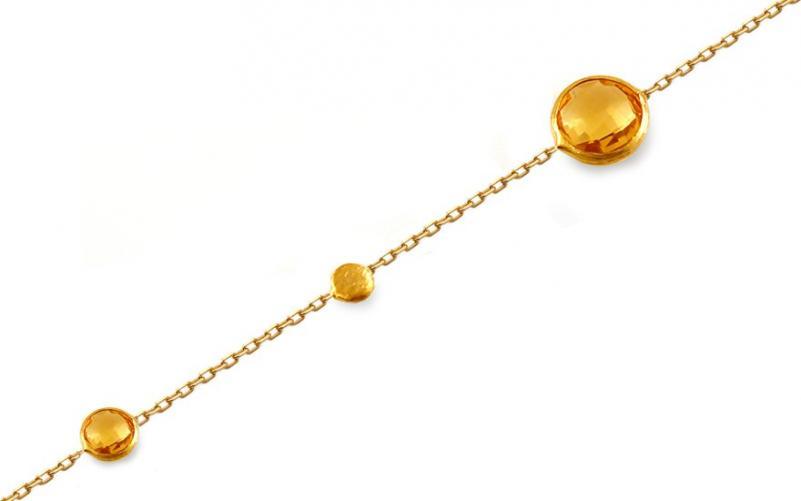 Zlatý náramek s citrínem Nidia IZ12374N