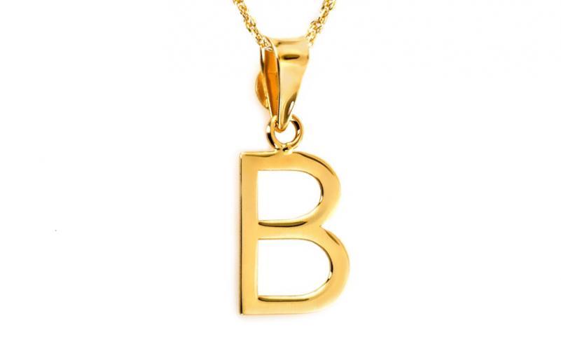 Zlatý přívěsek písmenko B IZ6437