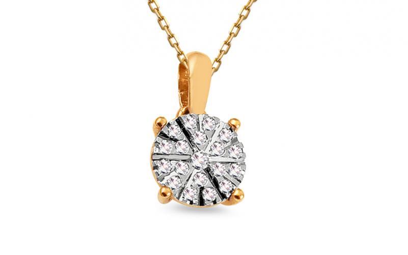 Zlatý přívěsek s diamanty 0,090 ct Ardis KU722