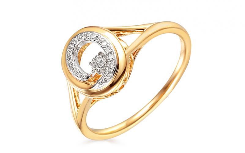 Zlatý prsten s diamanty 0,140 ct Dancing Diamonds IZBR542