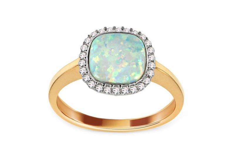 Zlatý prsten s opálem Kiana IZ11028