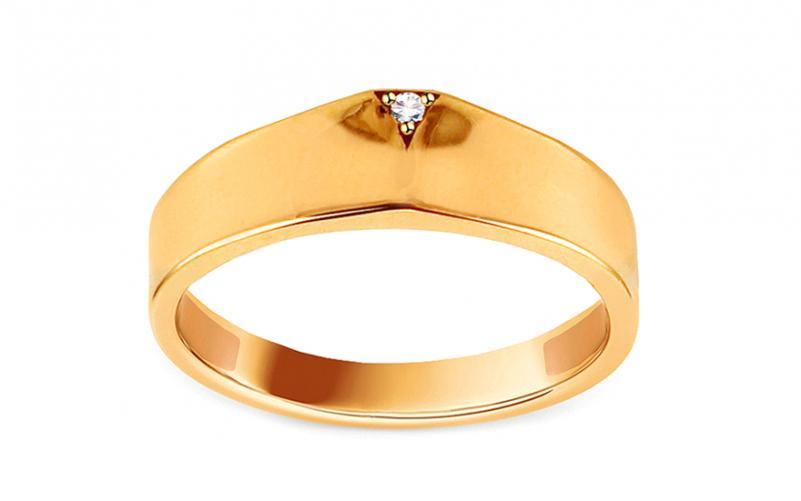 Zlatý prsten se zirkonem Mirna IZ14277