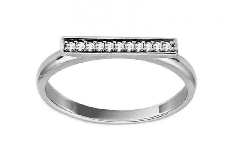 Zlatý prsten se zirkony IZ11372A