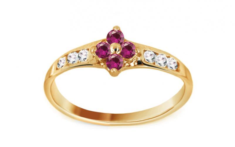 Zlatý zásnubní prsten Carmen 4 CSRI1163A