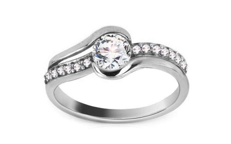 Zlatý zásnubní prsten Charlie 1 CSRI280A