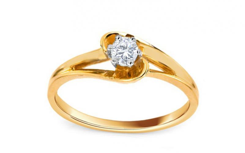 d15007a1d Zásnubní prsten s 0,132 ct diamantem Crown CSBR29