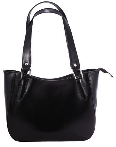 Kožená černá kabelka přes rameno tinian