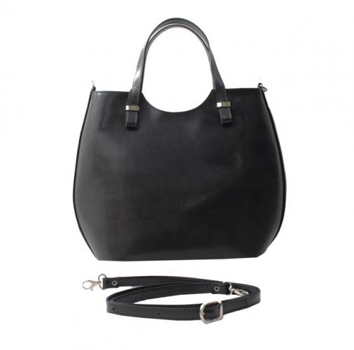 Kožená černá kabelka do ruky catherine