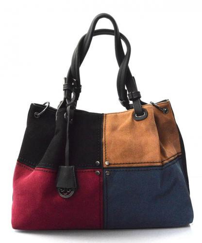 Moderní čtyřbarevná kabelka s černou Rimini two
