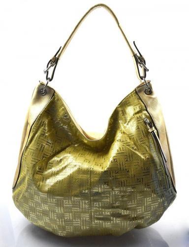 zlatá moderní kabelka na rameno Abril
