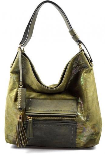 zelená duhová lesklá moderní kabelka Design