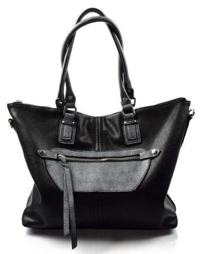 moderní černá kabelka na rameno katie