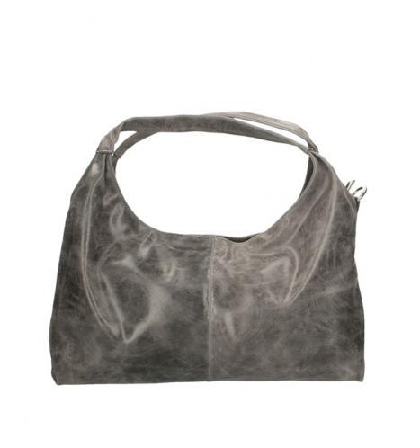 Kožená šedá kabelka na rameno jesica