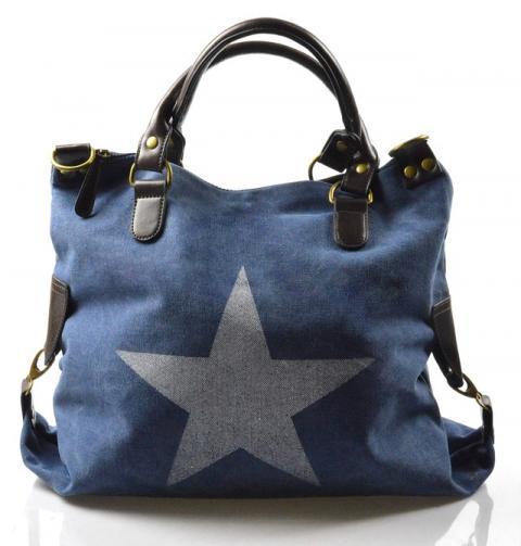 stylová moderní modrá taška na rameno military