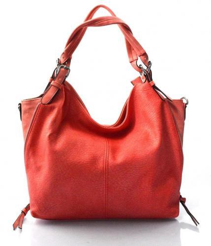 krásná červená kabelka na rameno livia