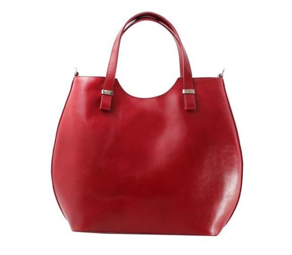 Kožená červená bordó kabelka do ruky catherine
