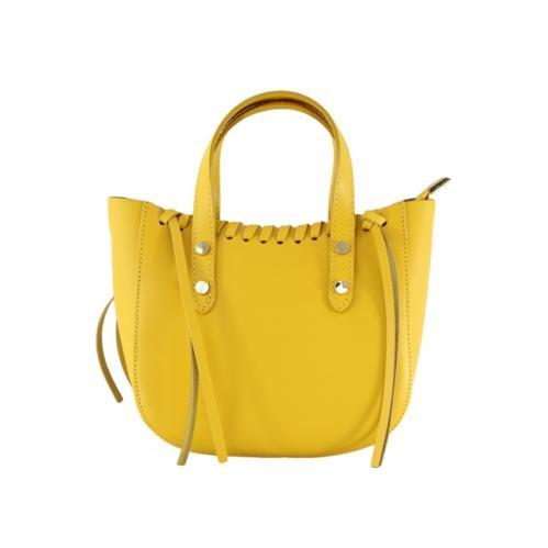 Kožená žlutá malá kabelka do ruky celine