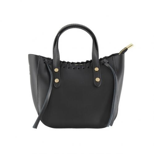 Kožená černá malá kabelka do ruky celine
