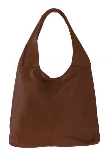 Kožená hnědá taška na rameno feris
