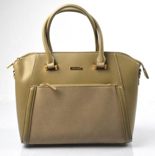 Elegantní kufříková menší hnědá taupe kabelka do ruky Sicil