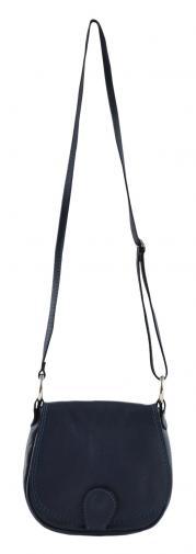 kožená menší modrá crossbody kabelka na rameno Lundy