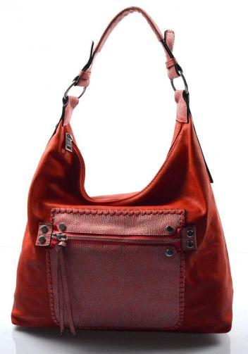 moderní červená kabelka na rameno nyla