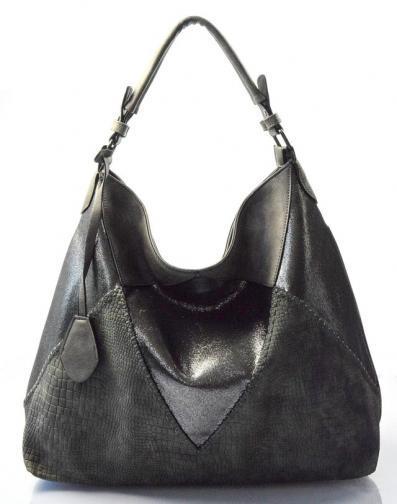 zeleno-šedá designová kabelka salena