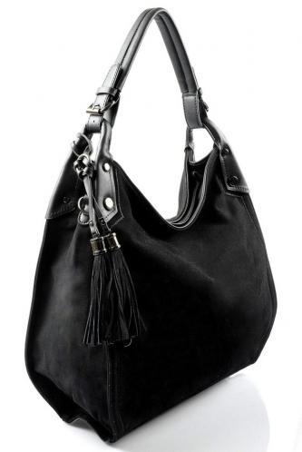 černá designová filcová kabelka Julia
