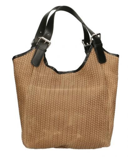 Kožená béžová taška na rameno astrid