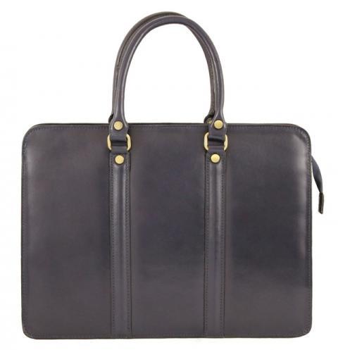Kožená luxusní modrá kabelka do ruky ester