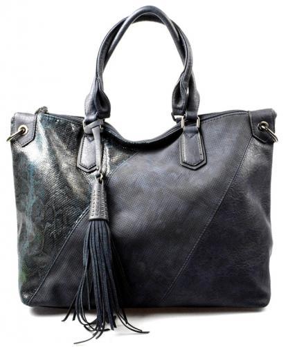 modrá designová kabelka Mixes