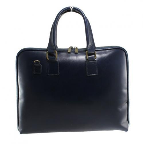 Kožená modrá kabelka do ruky michel
