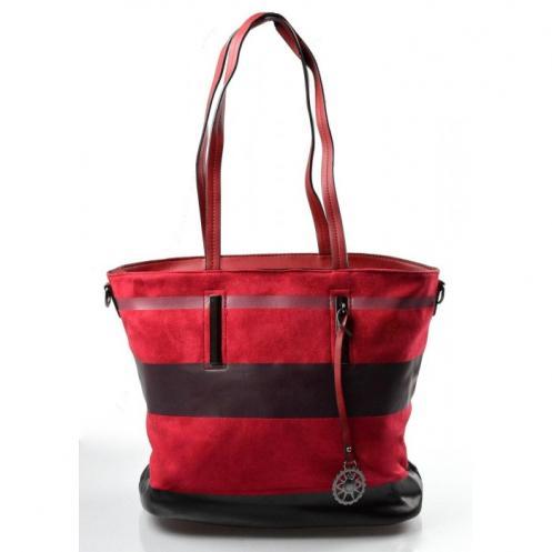 barevná bordó pruhovaná kabelky Berien Bellasi 11198