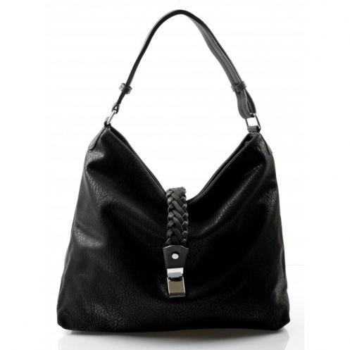 krásná černá kabelka na rameno style Valeria 23025