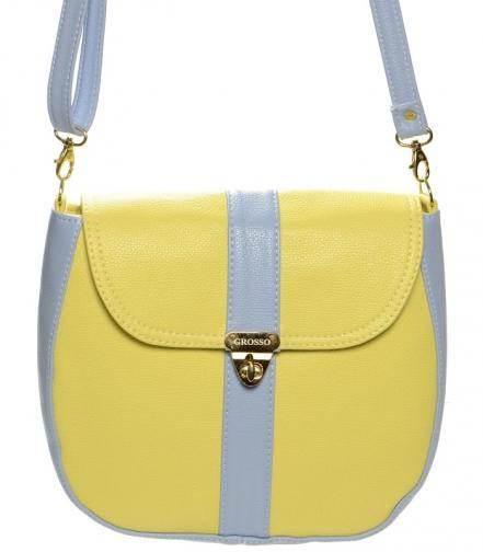 Žluto modrá crossbody kabelka Victoren