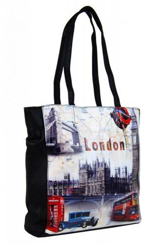 Černá moderní dámská kabelka na rameno Londien