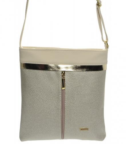 Zlato-béžová elegantní crossbody kabelka Thea