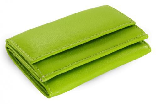 Zelená kožená dámská menší peněženka Adrien