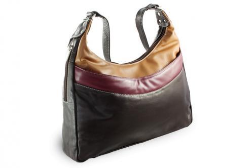 Hnědá kožená dámská kabelka Gondolien